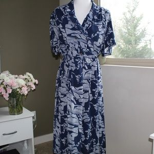 Vintage Double Breasted Midi Dress